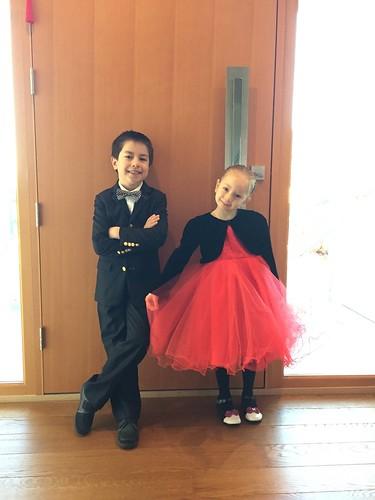 Scott & Elaine ready for the piano recital