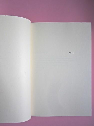 Errori necessari, di caleb Crain. 66thand2nd edizioni 2014. Progetto grafico: : Silvana Amato. Ill. alla cop.: P. d'Oltreppe. Pagina dell'esergo, a pag. 7 (part), 1