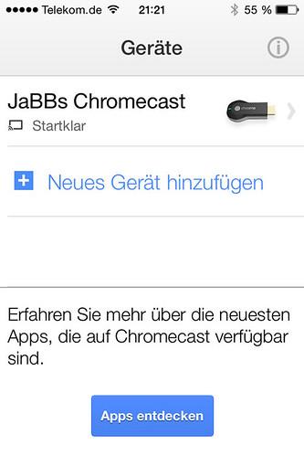 19 - Google Chromecast - Fertig eingerichtet auf dem iPhone