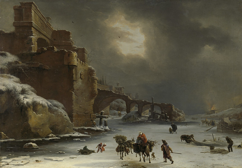 Willem Schellinks - Stadswal in de winter (c.1660)