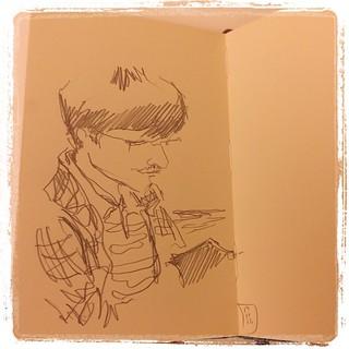 #japon #urbansketch #portraits #pentel #kerry #moleskine
