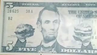 Burger King five dollar bill