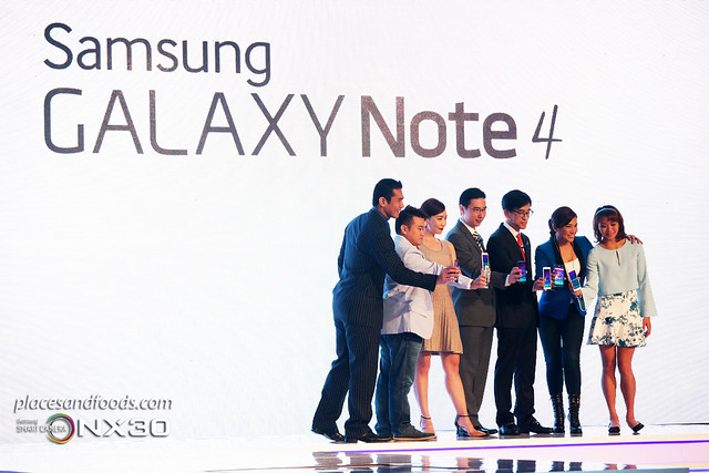 galaxy note 4 launch with celebrities