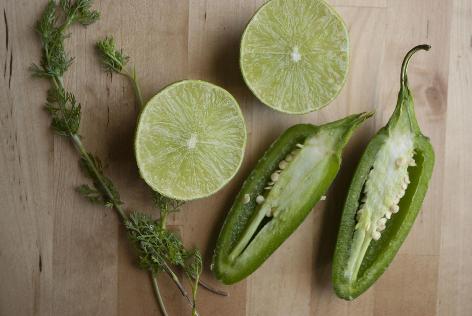 Avocado Pomegranate Salad with Cilantro-Lime Crema