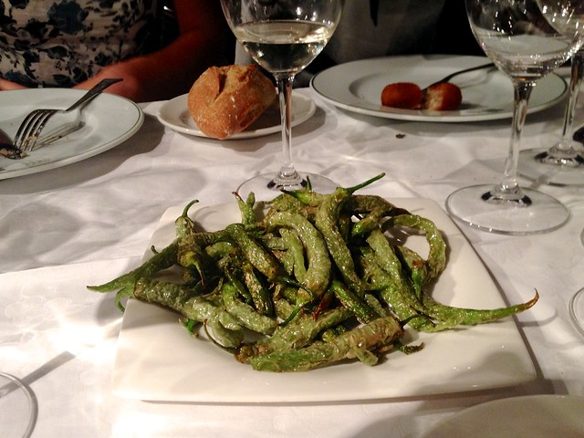 Fried Padron Peppers at Rekondo