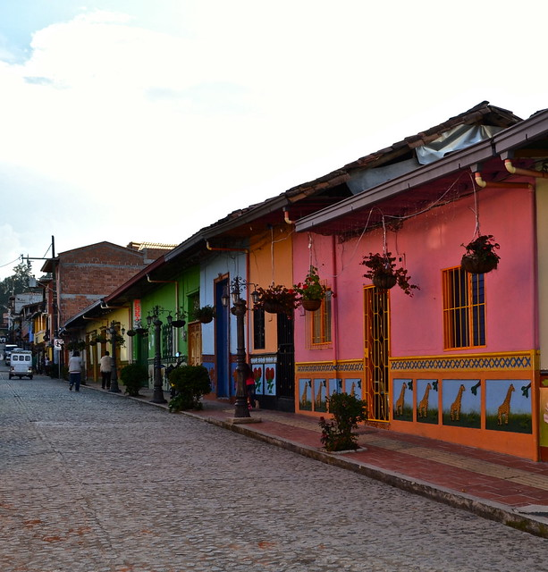 side street in guatape colombia