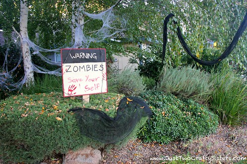 zombie attack halloween decor