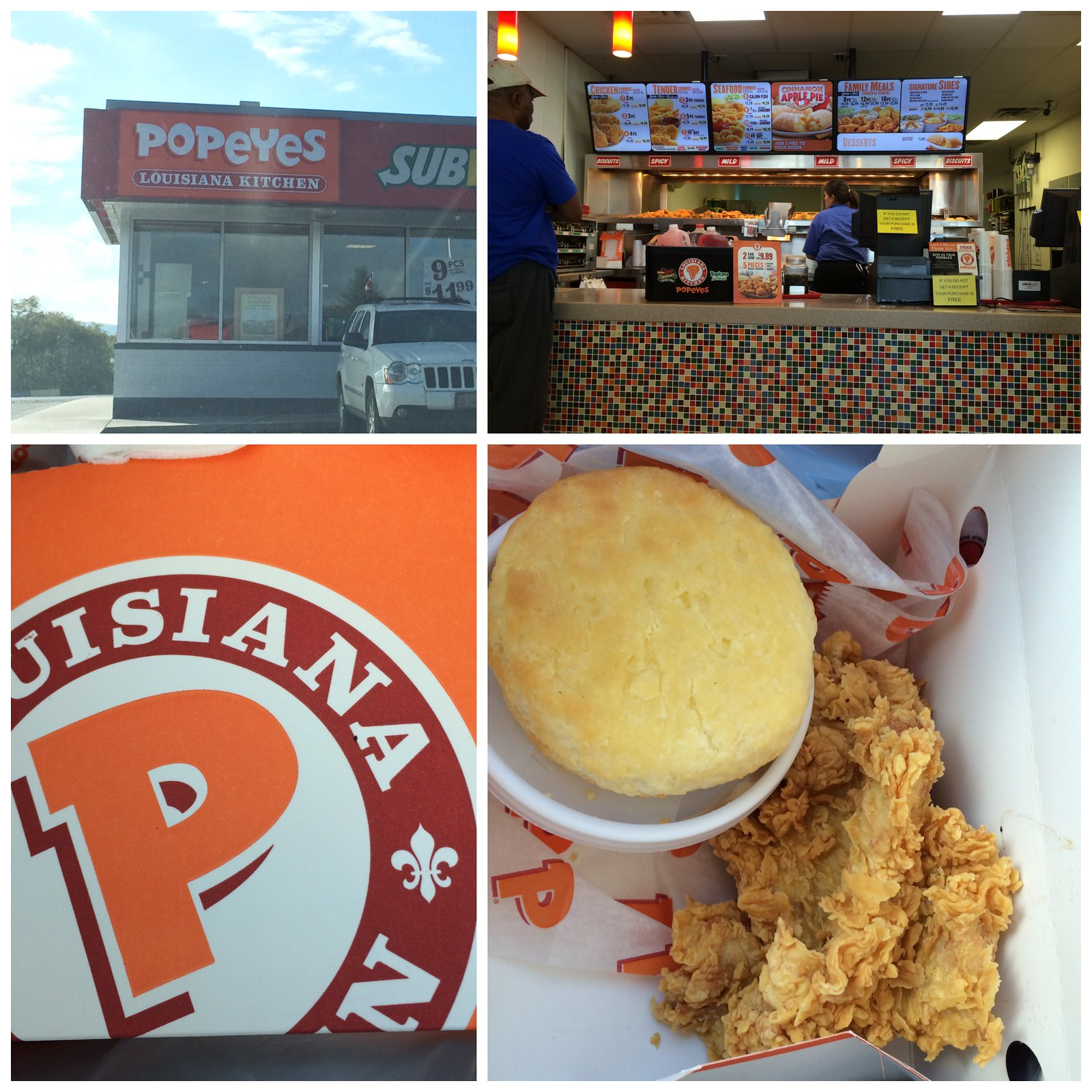 Popeyes Collage
