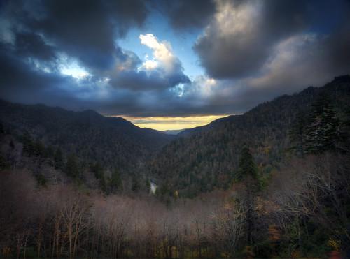 park autumn sunset mountains fall landscape october highway great hwy national smoky 441 greatsmokymountainsnationalpark gsmnp tonybarber mortonsoverlook