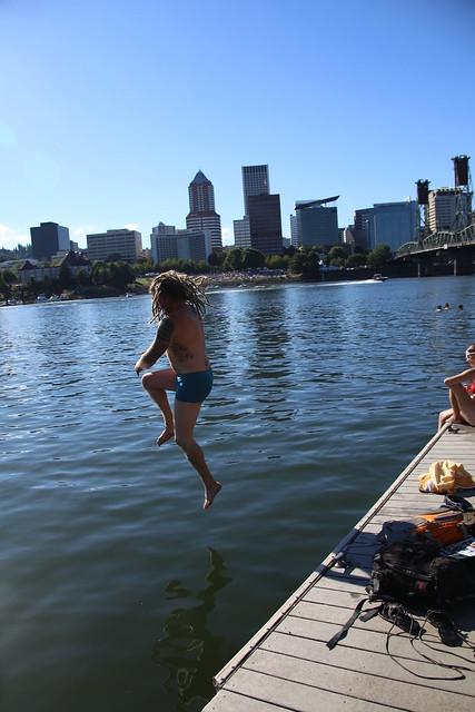 Portland Boathouse Pier.  Portland, Oregon USA.