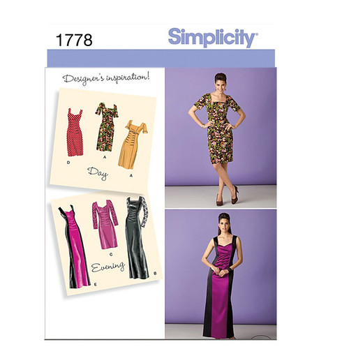 Simplicity 1778 dress pattern env