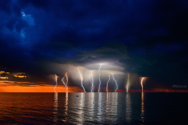 Storm and Sunset