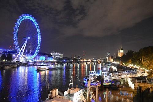 The London Skyline 18. The London eye & County Hall Night Image. Nikon D3200-DSC_0229.
