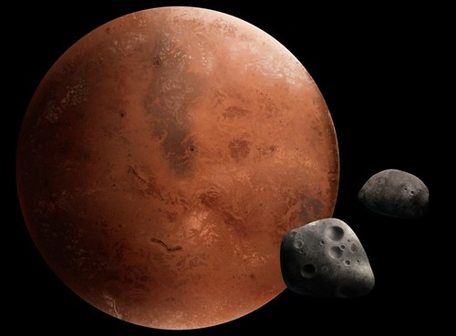 Mars and it's moon