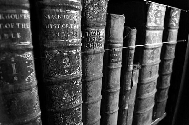 Books in Black and White.
