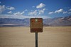 Death Valley dry lake sign