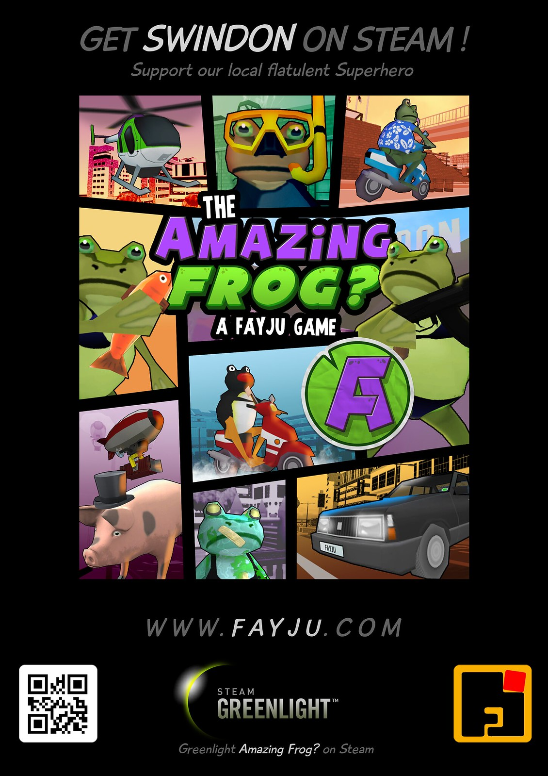 Amazing Frog_poster