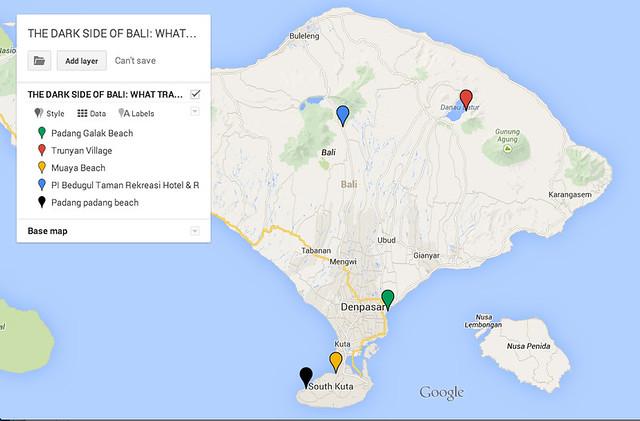 scary bali map