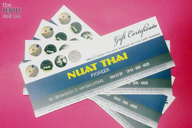 Nuat Thai Pioneer Gift Certificates