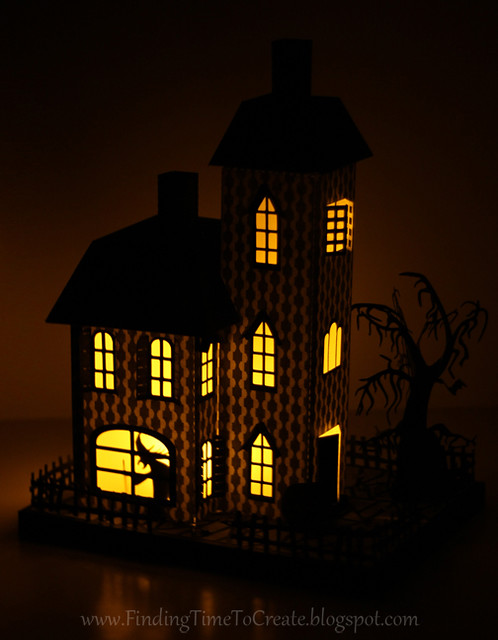 Haunted House at Night by Kelly Wayment