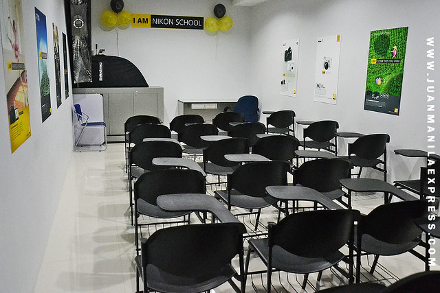 NIKON SHOWROOM & SERVICE CENTER. The all-new Nikon Serc=vice center in Makati also provides training and photography class venue as seen on our photo.