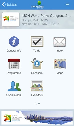 #WorldParksCongress App from Paperless Events 11.2014 @paperlessevent