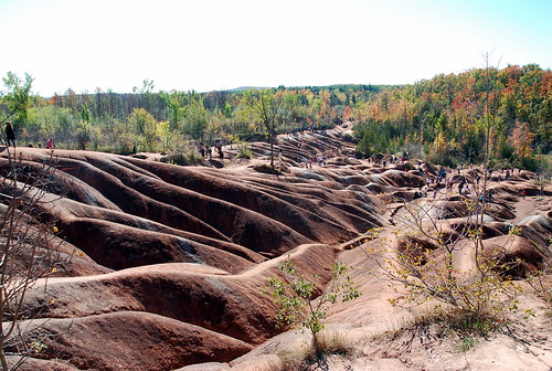 Badlands view mid-October weekend in Caledon, Ontario