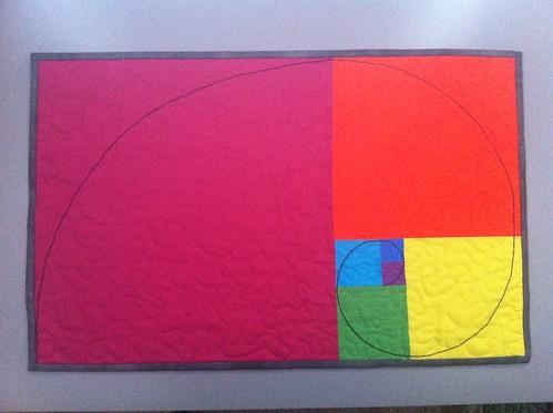 Fibonacci mini quilt