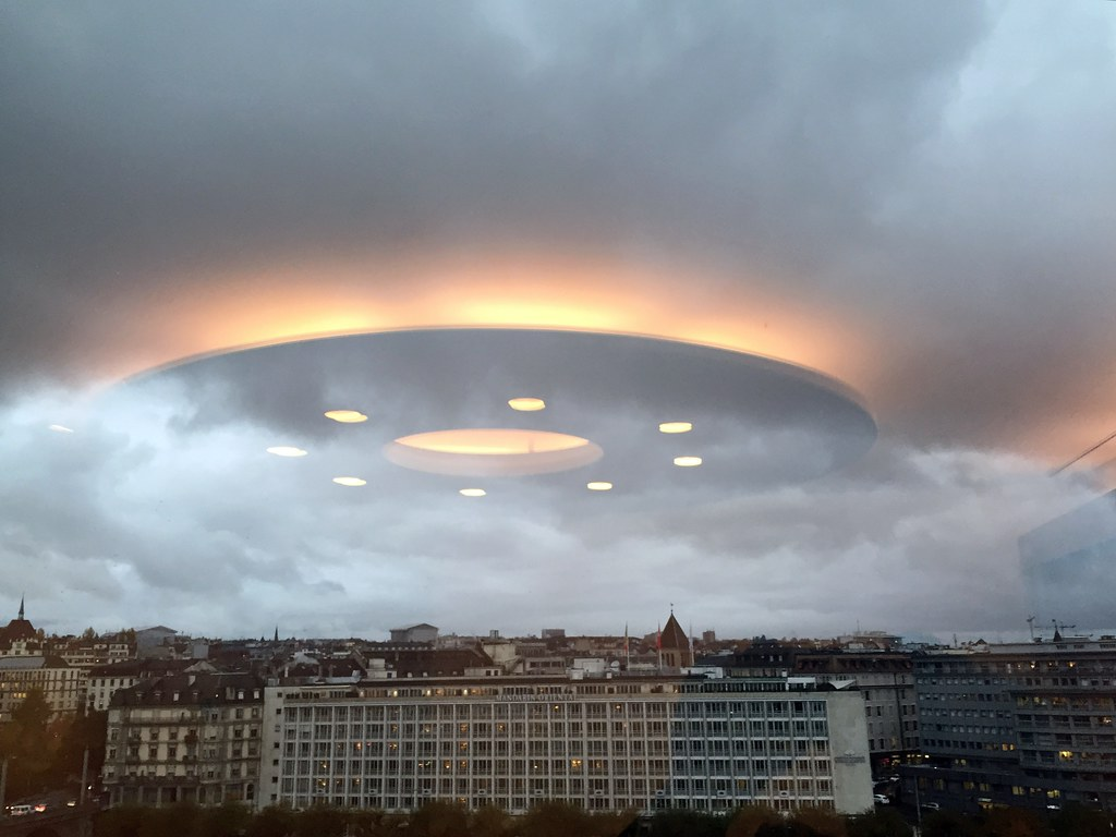 UFO over Geneva