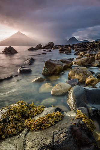 old uk longexposure sunset mountain seascape storm man skye castle beach rock sunrise walking landscape island photography coast scotland fishing nikon scenery long exposure isleofskye hiking scottish sigma best explore climbing filter loch nikkor grad range cuillins isle 70200 gloaming 1635 elgol cokin stor d610 dannymcaskill nikond610 ukpotd