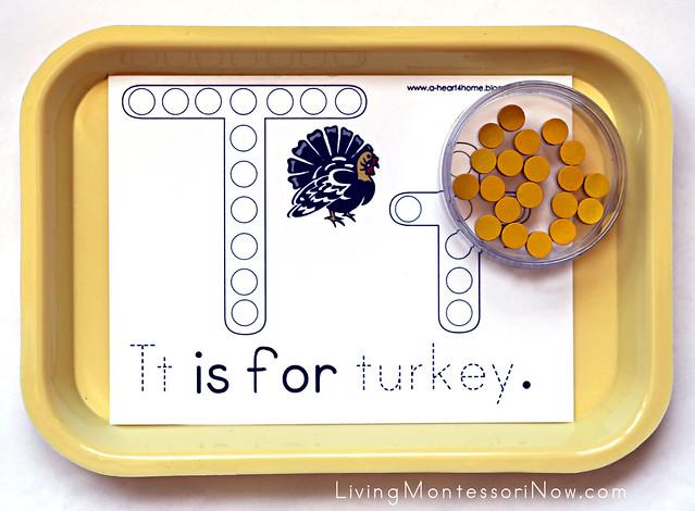 Tt Is for Turkey Tray