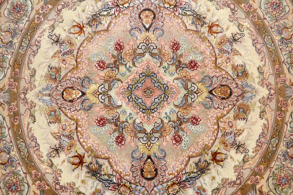Round Persian Rug Novinfar 5x5