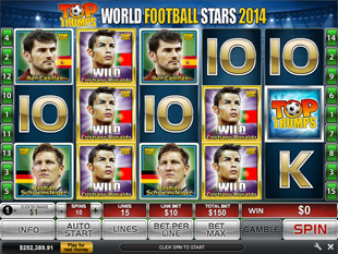 Top Trumps World Football Stars 2014 slot game online review