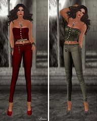 DE Designs - Kelly Corset Red and Snake