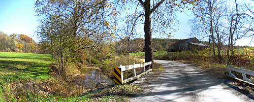 road bridge autumn panorama color fall barn landscape virginia us unitedstates farm bluesky fallfoliage va autumncolor 2014 byway