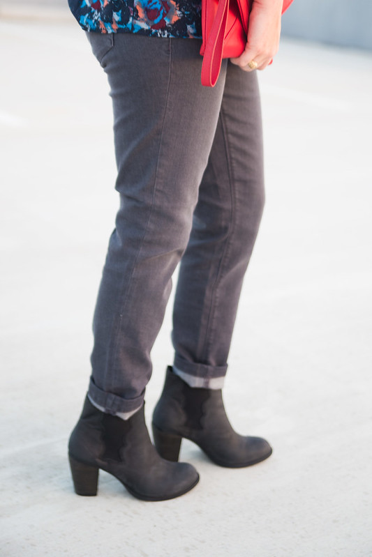 Ankle Boots with Cuffed Jeans 2