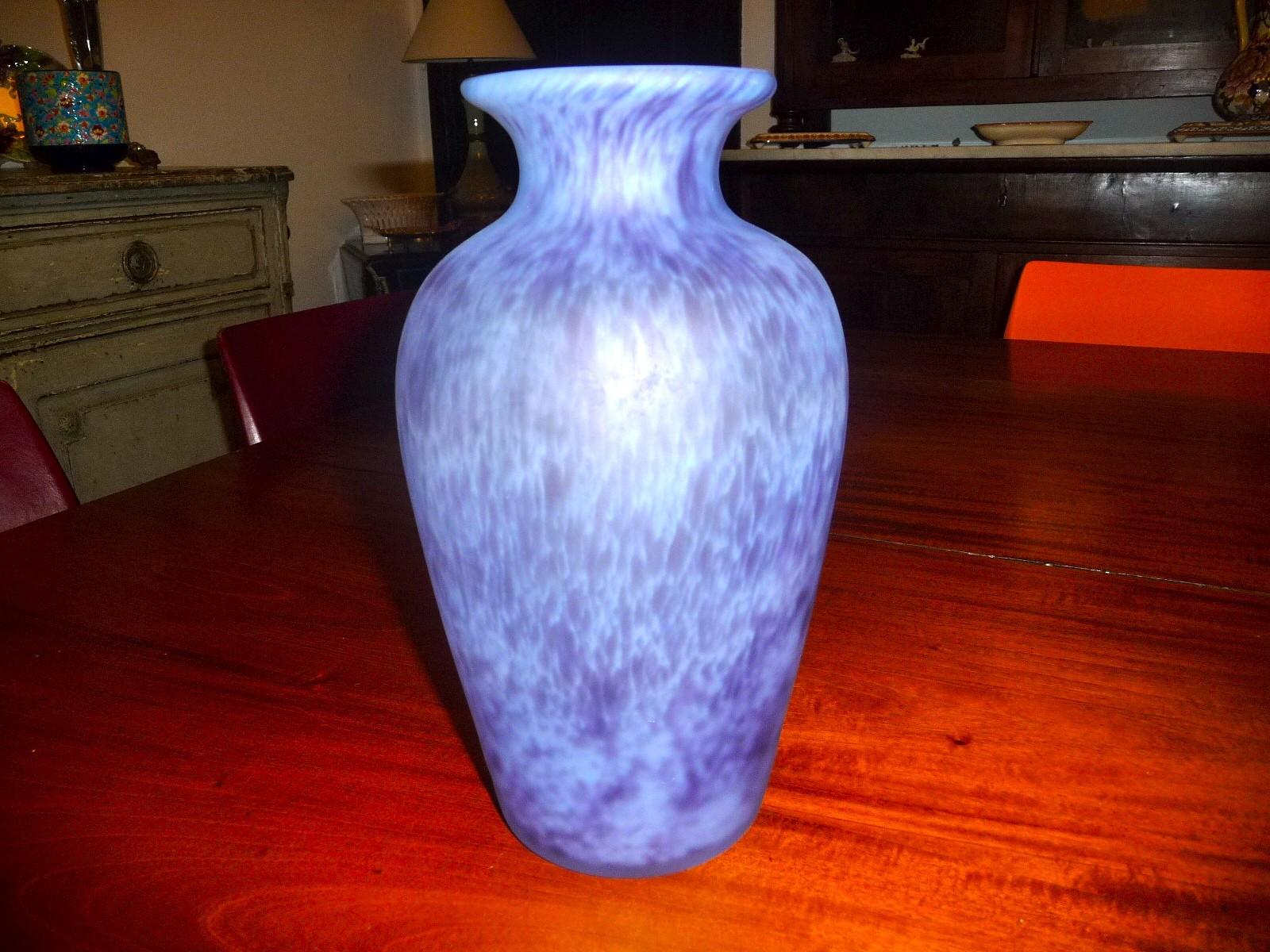 La roch re grand vase en p te de verre ebay - Deco grand vase en verre ...