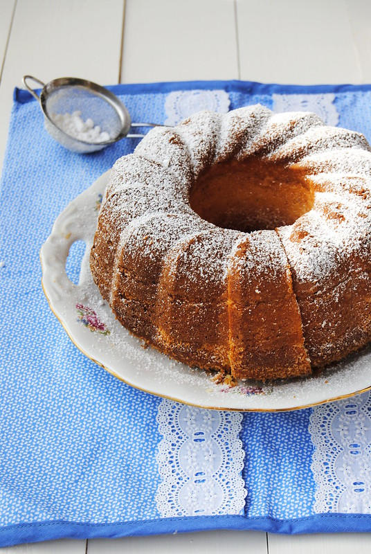Kefir, Coconut and Lemon Curd Bundt Cake