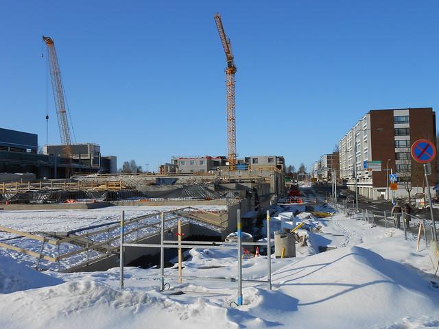 Hämeenlinnan moottoritiekate ja Goodman-kauppakeskus: Työmaatilanne 17.3.2013 - kuva 15