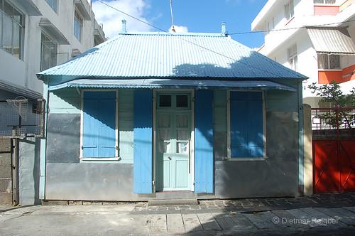 city von portlouis mauritiusmauritius oldhousewithshadesofbluemauritiusile mauriceinsel mauritiusportlouiscapital mauritiushauptstadt