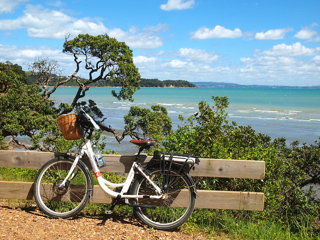 Electric bike on Waiheke Island