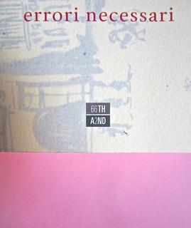 Errori necessari, di caleb Crain. 66thand2nd edizioni 2014. Progetto grafico: : Silvana Amato. Ill. alla cop.: P. d'Oltreppe. Copertina (part), 6