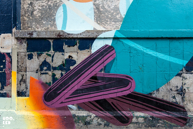 Roid and SatOne Brixton Street Art Mural for Wahaca