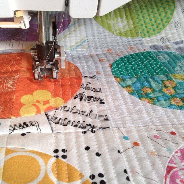 Quilting with the winter sun on my back, bliss! #warmwishesswap
