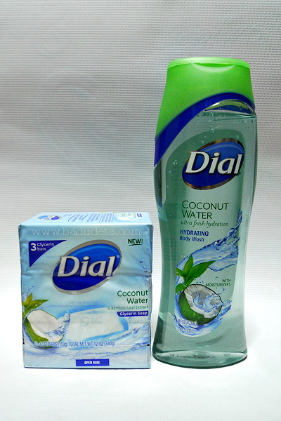 Dial Coconut Water Glycerin Bar Soap and body wash