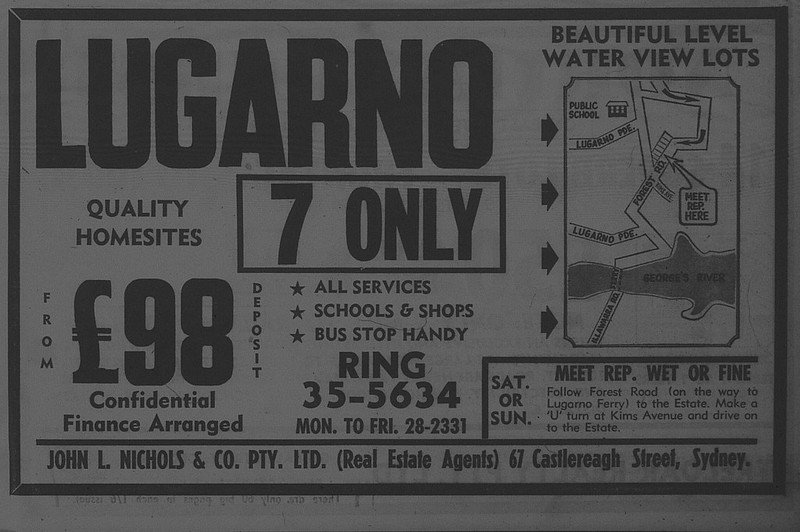 Lugarno Housing ad October 23 1965 daily telegraph 47