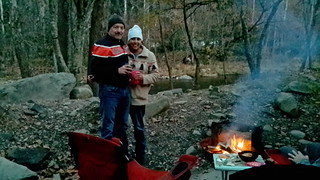 Perry & Dee Dee enjoying the campfire
