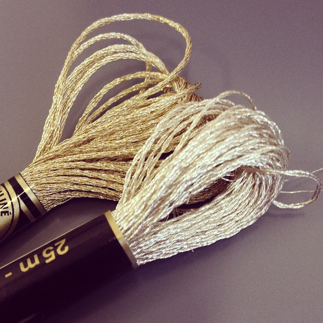 This will be my first time using metallic #embroidery floss. Coming soon to the #airembroideryclub.