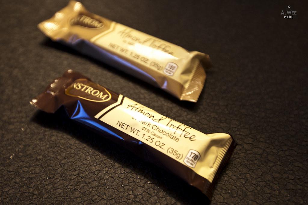 Chocolate bar for turndown