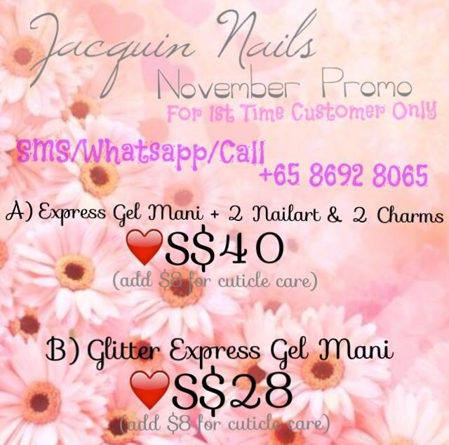 Jacquin Nails November Promo